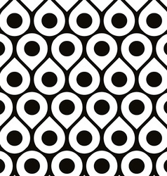Black and white seamless pattern with droplets and vector image