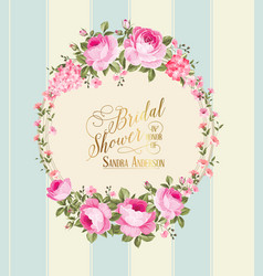 border of flowers vector image vector image