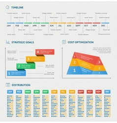 Business infographics charts vector image vector image