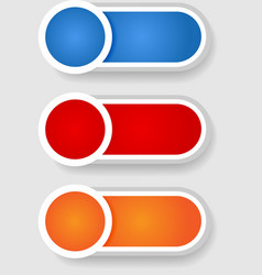 Set 2 of circle and cylinder labels vector image vector image