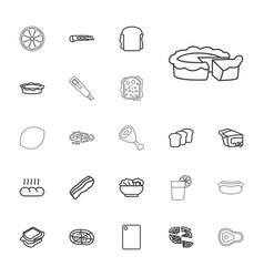 22 slice icons vector