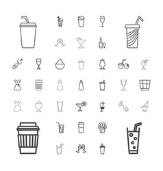37 cocktail icons vector