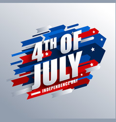 4th july graphic for usa independence day vector image