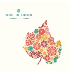 abstract decorative circles leaf silhouette vector image