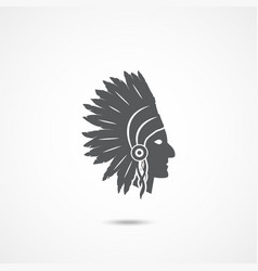 american indian chief vector image