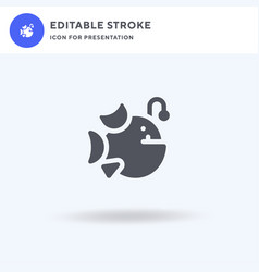 Anglerfish icon filled flat sign solid vector