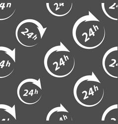 around clock seamless pattern vector image