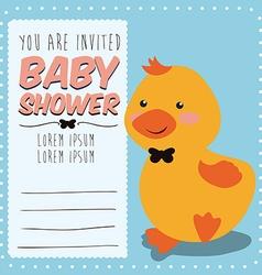 Baby shower card design vector