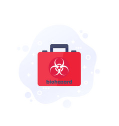 Biohazard box icon on white flat vector