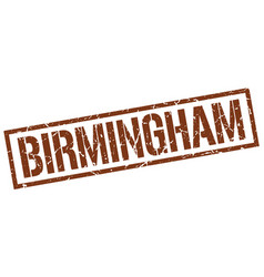 Birmingham brown square stamp vector