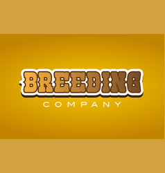 Breeding western style word text logo design icon vector