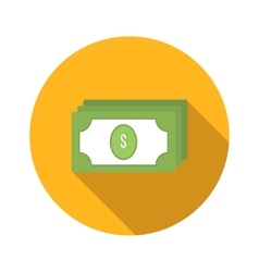 Bundle of money flat icon vector