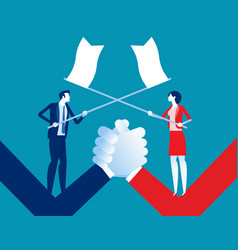 Business conflict concept business war vector