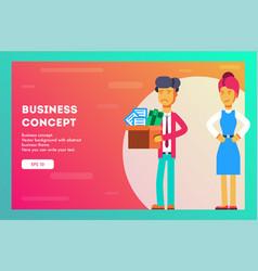 businesswoman fires an employee vector image