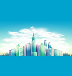 Cartoon banner urban vector