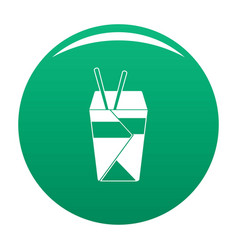 chinese fast food icon green vector image