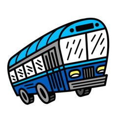 City bus transit vehicle icon vector