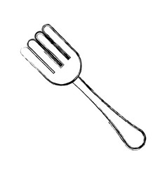 Covered fork symbol vector