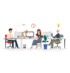 creative people in office have idea vector image
