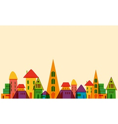 Cute little town vector image