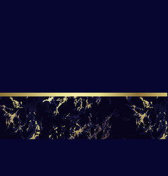 Dark blue marble background with gold vector