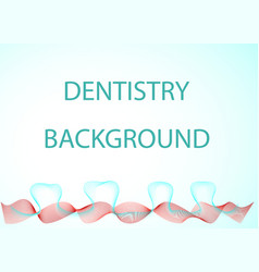 Dentistry background vector