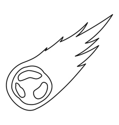 Falling meteor icon outline style vector