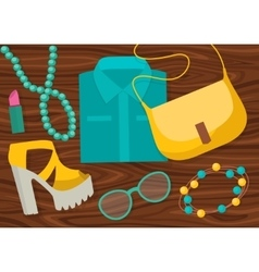 Fashion Accessories Composition vector image