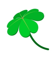 Four-leaf clover cartoon icon vector image