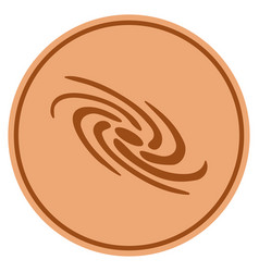 Galaxy bronze coin vector