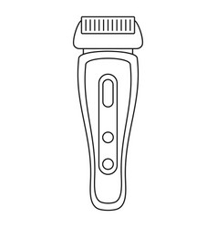 hair shaver icon outline style vector image