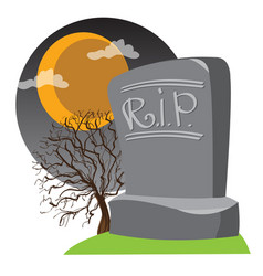 Headstone rest in peace design gaming vector