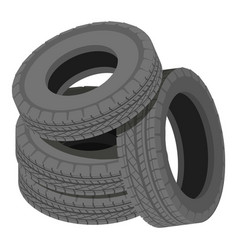 Heap tyre icon isometric style vector