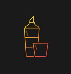 Highlighter gradient icon for dark theme vector