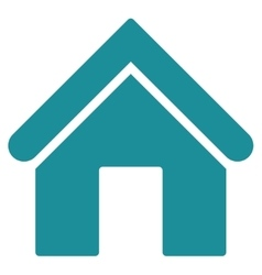 Home flat soft blue color icon vector image