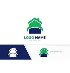 house logotype design template real estate vector image