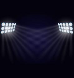 Illuminated searchlights vector