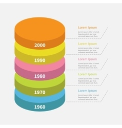 Infographic with dash line and text Timeline vector image
