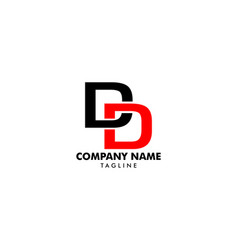 initial letter dd logo template design vector image