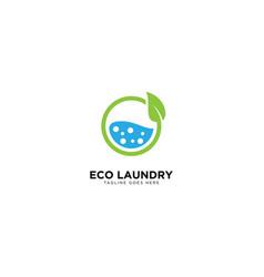 Laundry logo design template vector