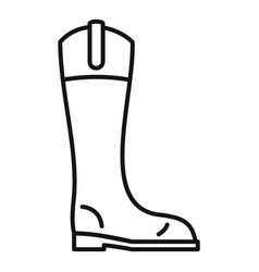 Leather horseback boot icon outline style vector
