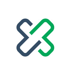 letter x icon logo concept vector image