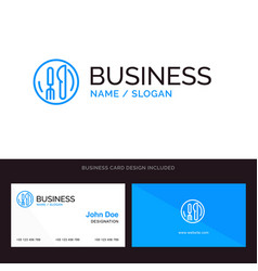 Logo and business card template for hotel service vector