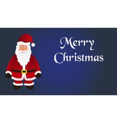 Mery christmas with cartoon Santa Claus with red vector