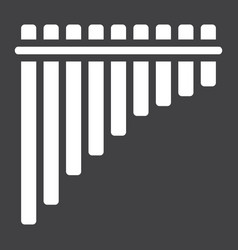 Mexican pan flute glyph icon music vector