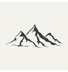 mountains Black and white style vector image