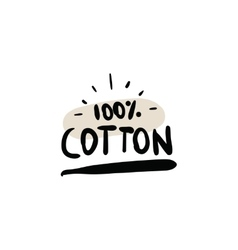 Natural organic cotton label vector image