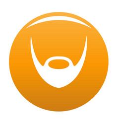 Oval beard icon orange vector