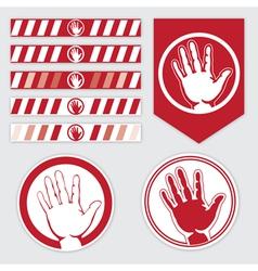Palm caution vector