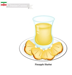 Pineapple Sharbat or Iranian Drink From Pineapple vector